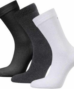 Bomullsstrumpor Leisure Basic Svart, grå, vit