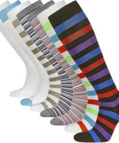 Kompressionsstrumpor i olika färger